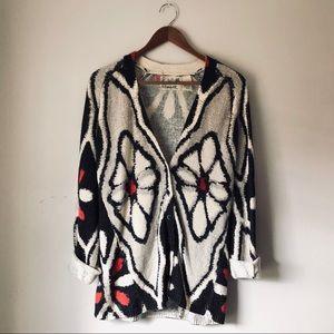 Anthropologie Field Flower Cardigan Sweater